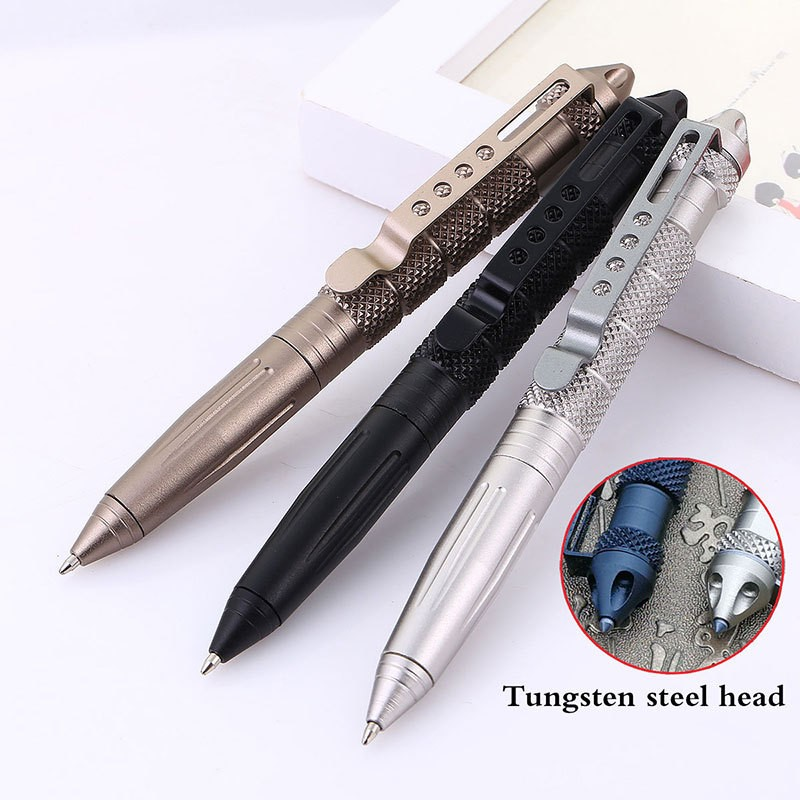 High Quality Defence Personal Tactical Pen Self Defense Pen Tool Multipurpose Aviation Aluminum Anti-skid Portable hot sale tactical pen self defense cooyoo tool tungsten steel anti skid portable lcc77