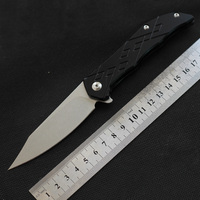MK D2 outdoor self defence Folding knife titanium handle sharp pocket flipper knife camping hunting knife Tactical survival EDC