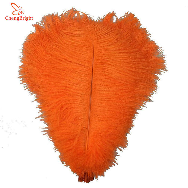 ChengBright 100Pcs 45-50CM/18-20inch Ostrich Feathers for DIY Jewelry Craft Making Wedding Party Accessories Decoration Feathers