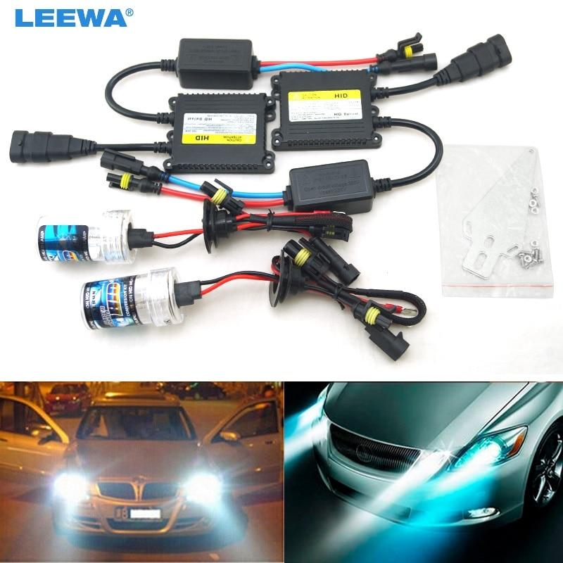 LEEWA 1 set AC 12 V 35 W H1/H3/H7/H8/H10/H11/9005/9006 xénon HID Kit voiture phare xénon ampoule lampe Ballast numérique # CA4471