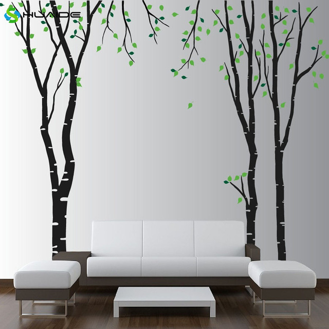 Large Wall Birch Tree Decal Forest Kids Vinyl Sticker Removable Wall ...