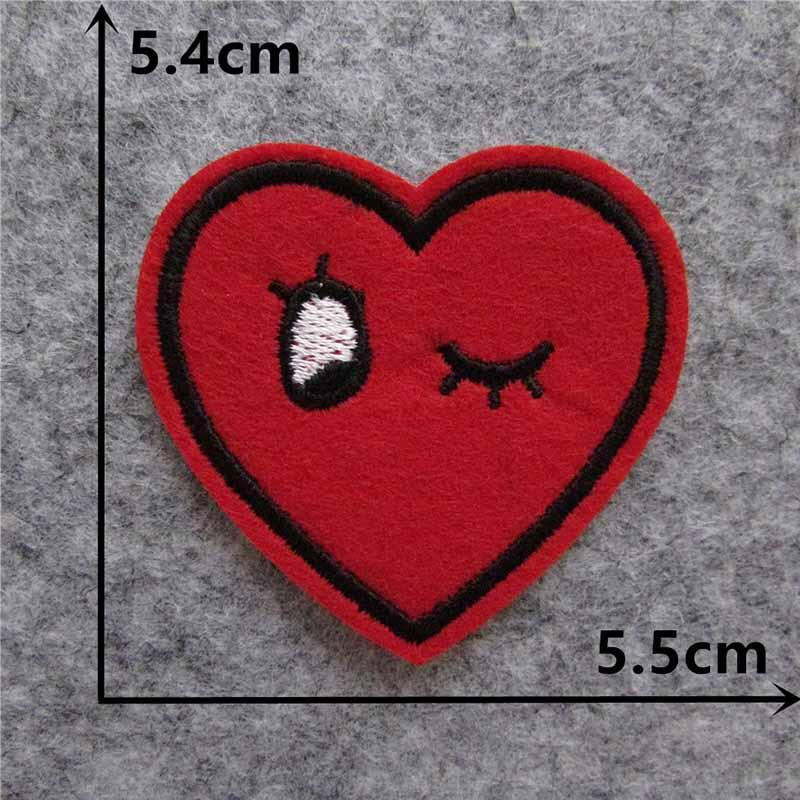 Мультяшная декоративная заплатка, сердце, дерево, Бабочка, узор, вышитая аппликация, нашивки для DIY, железные наклейки на одежду - Цвет: C5881