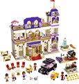 Série bela amigos heartlake grand hotel clássico para a menina crianças modelo de blocos de construção brinquedos marvel compatível legoe