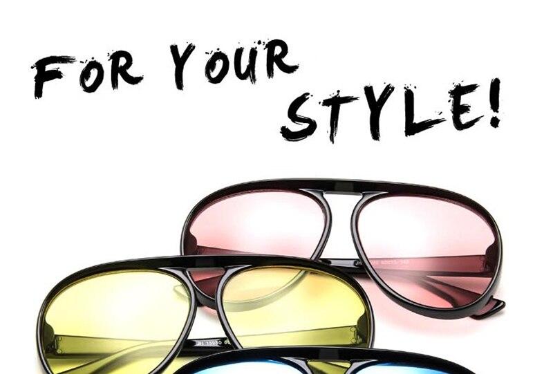 88552a48e4e LeonLion 2018 Vintage Pilot Sunglasses Men Candy Color Big Frame ...