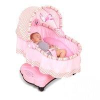 Детские Электрический трясет кровать спальные корзины Детская Многофункциональный коляска Председатель 360 градусов вращающийся новорожд