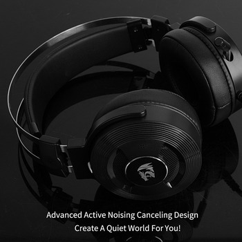 Redragon H991 TRITON Active Noise Canceling Gaming Headset 7.1 Channel Surround Stereo ANC Over Ear Headphone with Mircophone