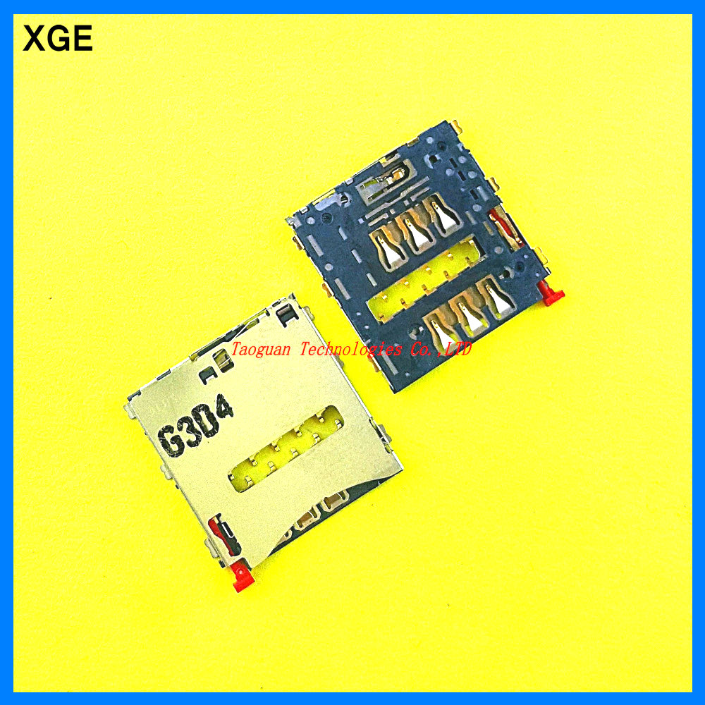 XGE New SIM Card Socket Holder Connector Slot Reader for SONY D5303 Xperia T2 Ultra xm50h Z1 Mini D5503 M51W Z1 Compact