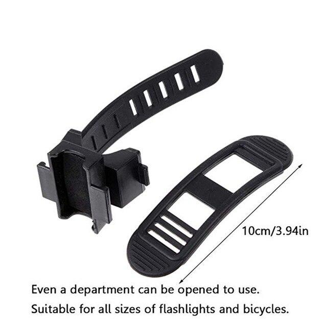 Ciclismo bicicleta luz da lâmpada faixa cinta suporte titular 360 rotação aperto led lanterna tocha braçadeira clipe de montagem 6