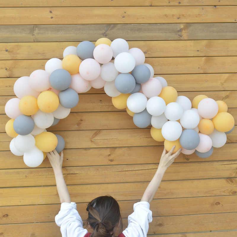 102 قطعة DIY أورانج ورمادي بالون الطوق عدة بالونات قوس الطوق الأولى عيد ميلاد الطفل دش الزفاف حزب خلفية ديكور