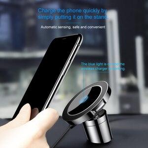 Image 4 - Baseus磁気ワイヤレス車の充電器iphone 8 高速車の充電充電器ユニバーサル携帯電話ホルダー車のホルダー