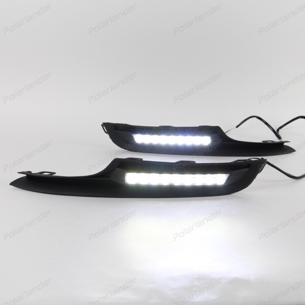 high quality 1 pair car-styling AUTO ACCESSORIES LED DRL daytime running light for V/olkswagen G/olf 7 2014-2015