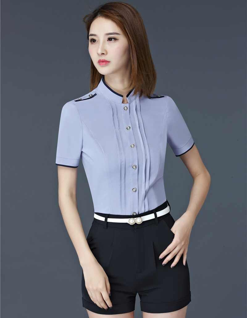 Yeni Resmi OL Stilleri Zarif Slim Fit Bluz Gömlek Bayanlar Ofis Iş Kadın Üstleri Güzellik Salonu Elbise Bluz Blusa S-4XL