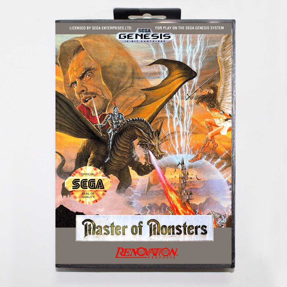 Master Of Monsters Game Cartridge 16 bit MD Game Card With Retail Box For Sega Mega Drive For Genesis image