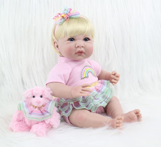 35cm Silicone Reborn Baby Doll Toys Lifelike 14inch Mini Vinyl Princess Toddler Girl Babies Doll Birthday