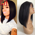 130 Density Short Bob Full Lace Human Hair Wigs Side Part Glueless Lace Front Wig For Black Women Short Human Hair Bob Wig