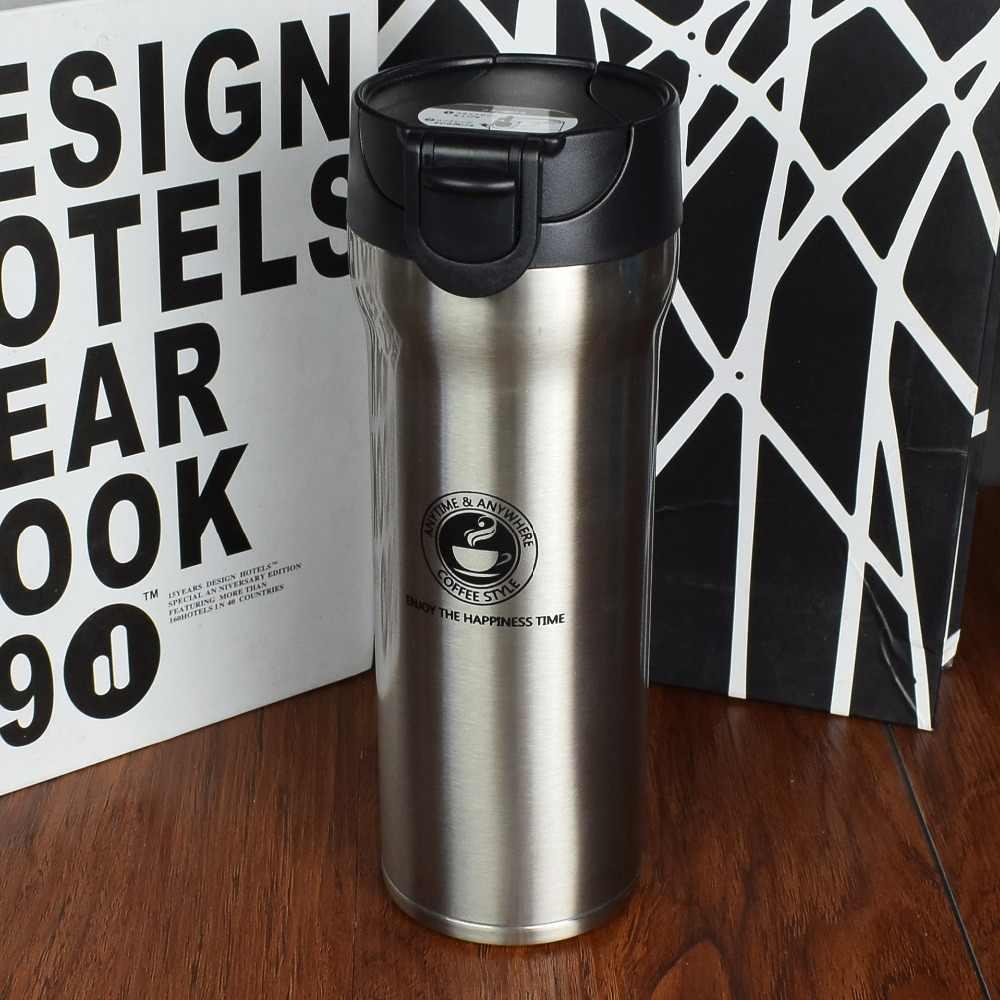 חם באיכות כפול קיר נירוסטה צלוחיות ואקום 350ml 500ml רכב תרמו כוס קפה תה נסיעות ספל Thermol בקבוק Thermocup