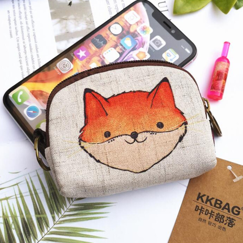 Maple Memories Bear Roaring Hunter Portable Canvas Coin Purse Change Purse Pouch Mini Wallet Gifts For Women Girls