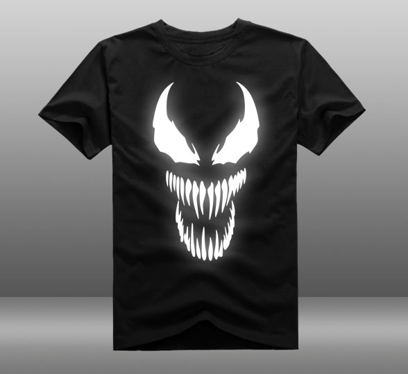new film spider man 2018 venom t shirt spider man skull men t shirt reflect light summer cotton. Black Bedroom Furniture Sets. Home Design Ideas