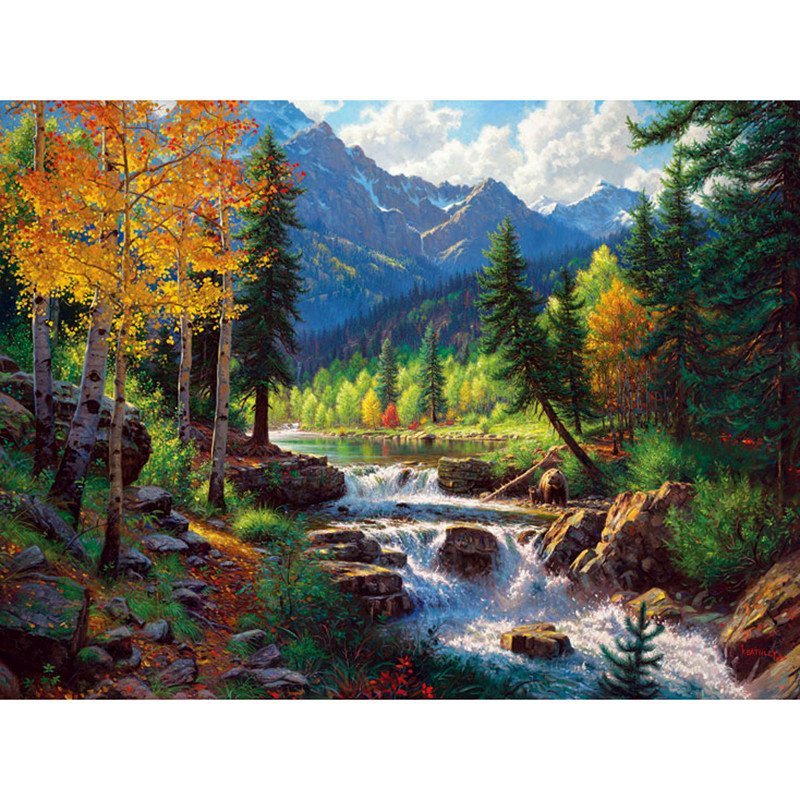 The Cheapest Price Diamond Embroidery Forest Lake 5d Diy Diamond Painting Cross Stitch Full Square Drill Rhinestone Mosaic Decoration In Many Styles Arts,crafts & Sewing Diamond Painting Cross Stitch