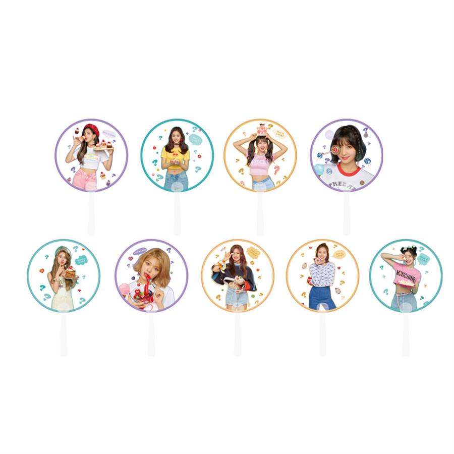 Kpop Twice What's Love Photo Transparent PVC Hand Fan Protable Summer Gift