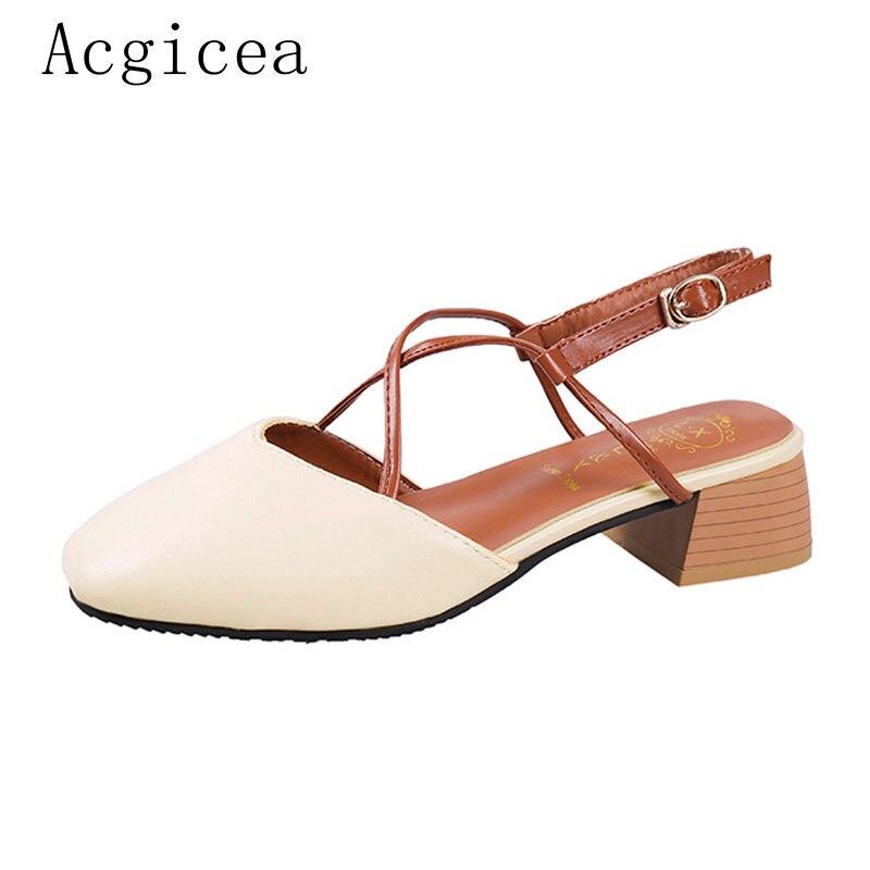 2018 Zapatos Occidental Calidad Superficial Tacones Sandalias Dedos Mujeres 4 Pies Nuevo Mujer Mejor Cm Caqui De Los Damas Med Calzado Estilo 5 Las Verano 4Op4wqr