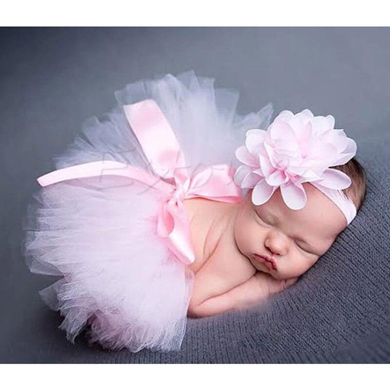 Новинка; Милая юбка-пачка для новорожденных девочек и повязка на голову; костюм для фотосессии; Oct2#330 - Цвет: 7