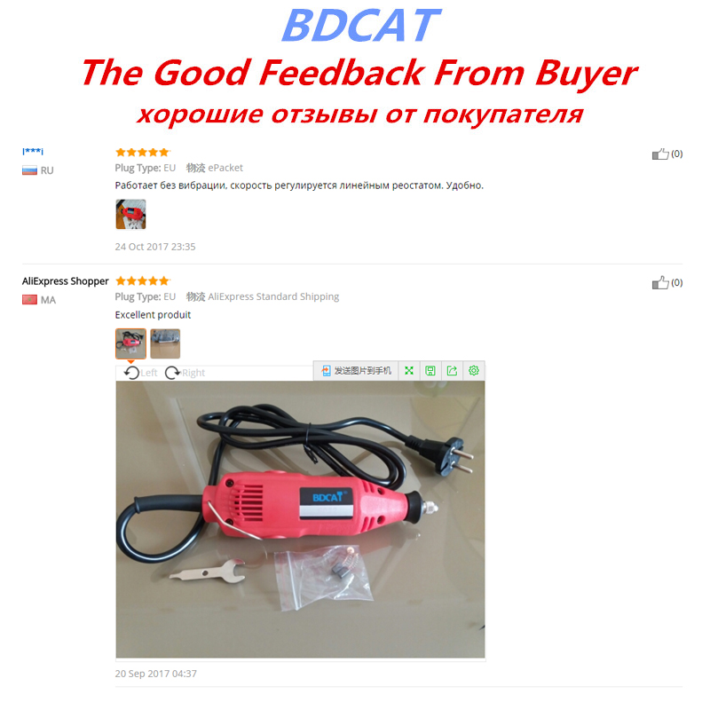 BDCAT EU / USA plug dremel csiszológép DIY elektromos kézi mini - Elektromos kéziszerszámok - Fénykép 6