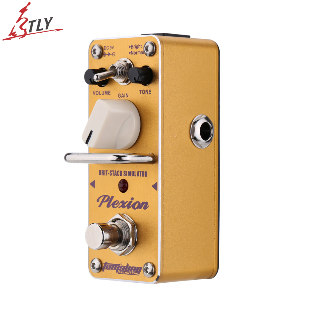 AROMA APN-3 True Bypass Electric Guitar Effect Pedal Plexion Brit-stack Simulator Mini Single Guitarra Effect Pedal nux roctary force simulator polyphonic octave stomp boxes electric guitar effect pedal fet buttered tsac true bypass