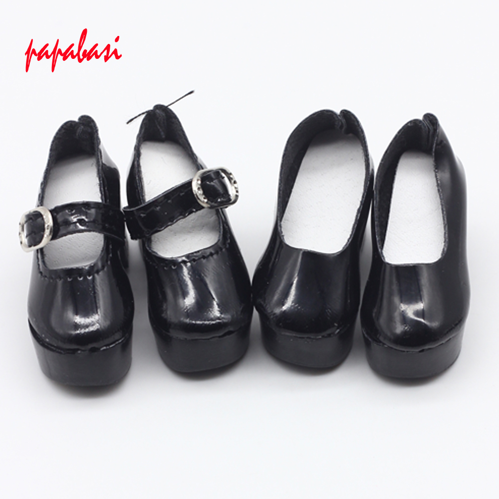 Black 6.3CM Shoes For 1/4 Bjd Shoes LOVELY Doll Shoes Msd BJD Shoes Doll Accessories js 081 bjd shoes pu shoes sd msd doll shoe factory sales directly