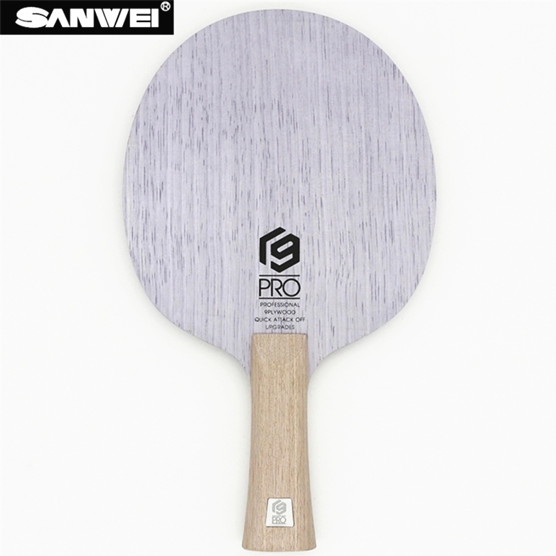 SANWEI Table Tennis Blade V9 PRO 9 ply pure wood All around pips long ping pong