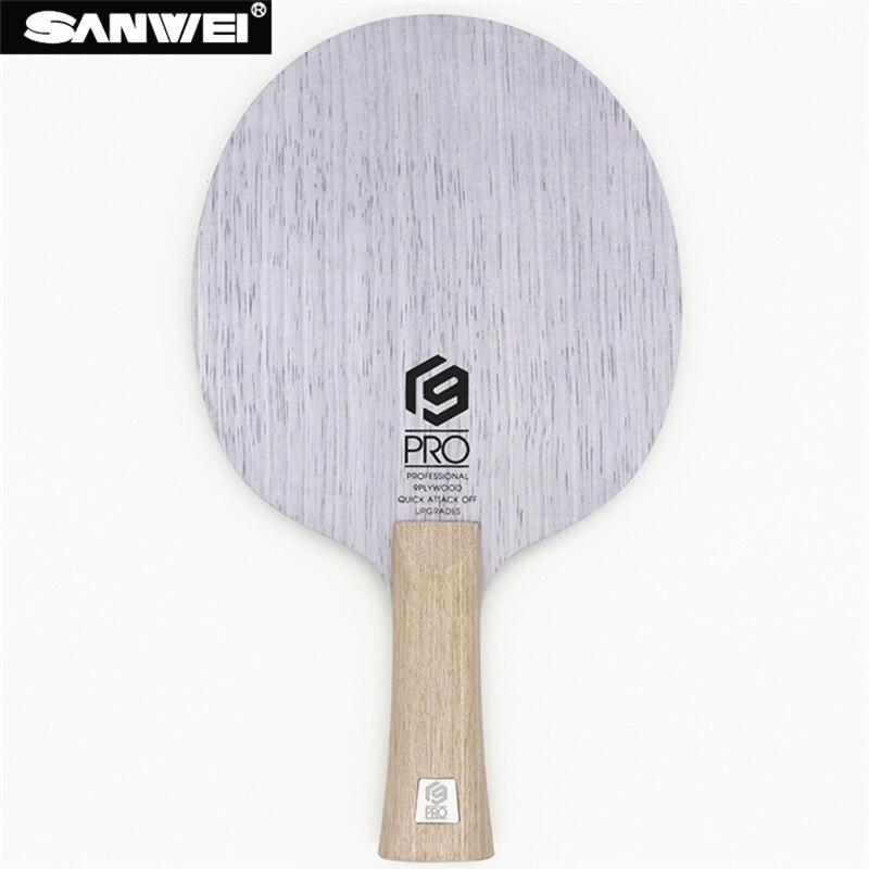 Lame de ping-pong SANWEI V9 PRO 9 plis en bois pur tout autour des pips-longue raquette de ping-pong