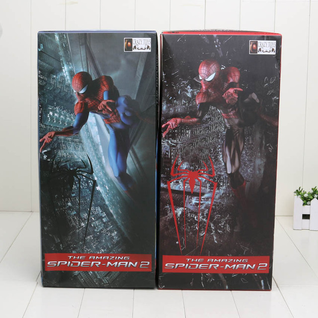 "Crazy Toys Spiderman The Amazing Spider man PVC Action Figure 17.7"" 2 Styles"