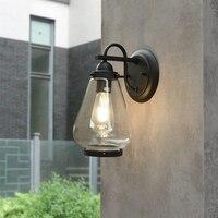 الأصلي بسيط في الهواء الطلق زجاج مقاوم للماء الجدار مصباح الإبداعية شخصية الشمعدانات الإضاءة الكمثرى شرفة مصابيح خارجية