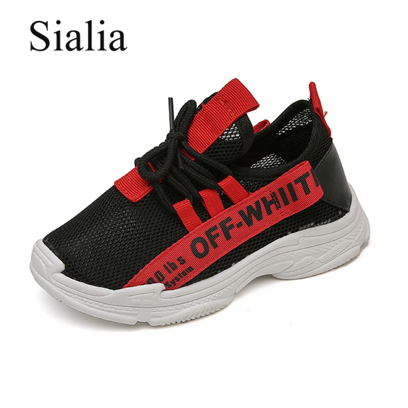 Sialia Mesh Children Shoes For Kids Sneakers Boys Casual Shoes Girls Sport Running School Student Breathable Rubber Footwear