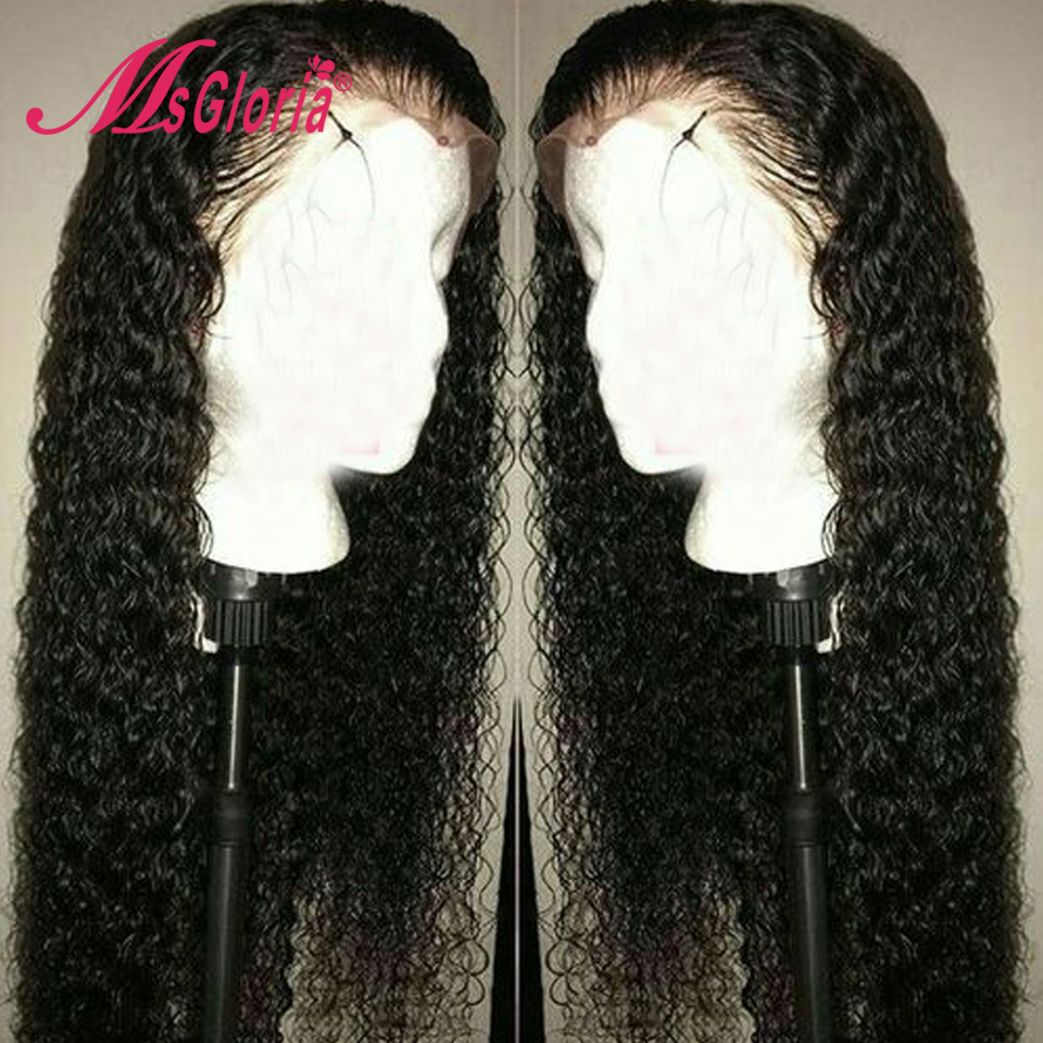Curly Lace Front Human Hair Wigs Glueless For Black Women Pre Plucked Hairline Peruvian Remy Hair