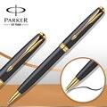 9 Cores Caneta Esferográfica Caneta de Ouro Clipe Caneta esferográfica Parker Soneto Parker Refil para a Escrita do Negócio Escritório Escola