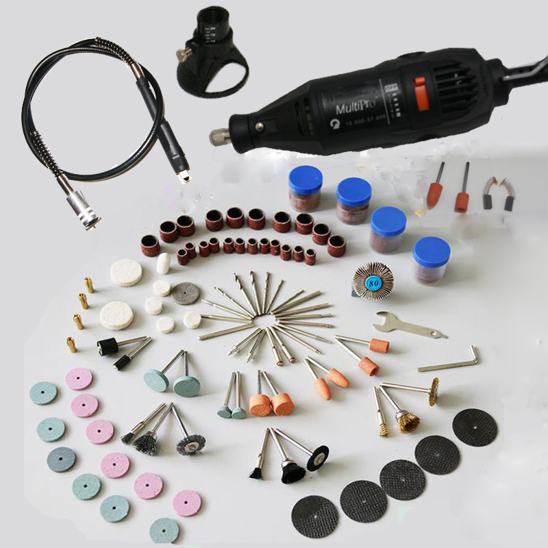 130W Dremel Style MultiPro Drill  Carving Pen Soft Shaft Accessories 162pcs Polishing Kits Factory Price
