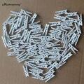 25 x Decoração de Casamento Rústico Branco Mini Madeira Artesanato Pegs Prendedores De Roupa De Madeira-Pequeno Natural
