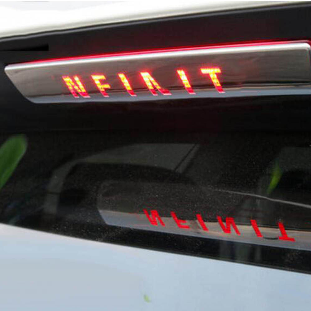 Trunk Taillight High Positioned Rear Brake light CHMSL Cover Sticker Trim for Infiniti QX60 JX35 Exterior Accessories car rear trunk security shield cargo cover for volkswagen vw tiguan 2016 2017 2018 high qualit black beige auto accessories
