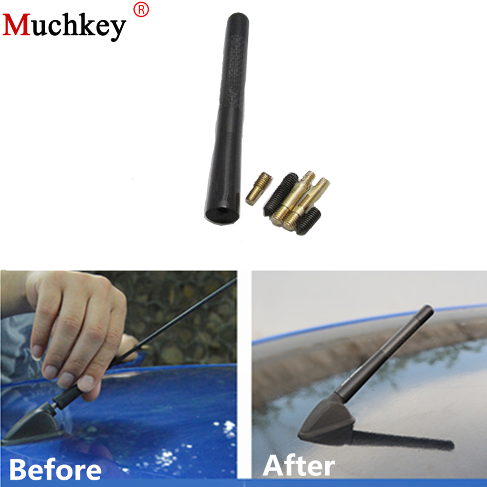 Audio & Video Accessories Blue Car Stereo Antenna Signal Carbon fiber Metal Receiving Aerial Car Electronics & Accessories