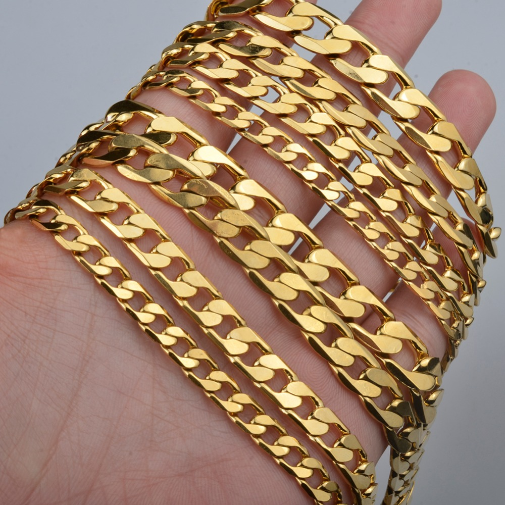 Men Chain Necklaces African Trendy Gold Color and Copper Jewelry Arabian Middle Eastern Jewellery Gifts for Women