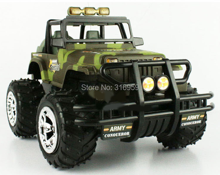 RC Car Army Monster Truck Sport Bigfoot H2 SUV 1:14 Radio Control Vehicle Model Electronic Children Gift Toys Hobbies new 1pieces lot pvc qq mini shape shifting robot car monster machines furnishing articles children s gift