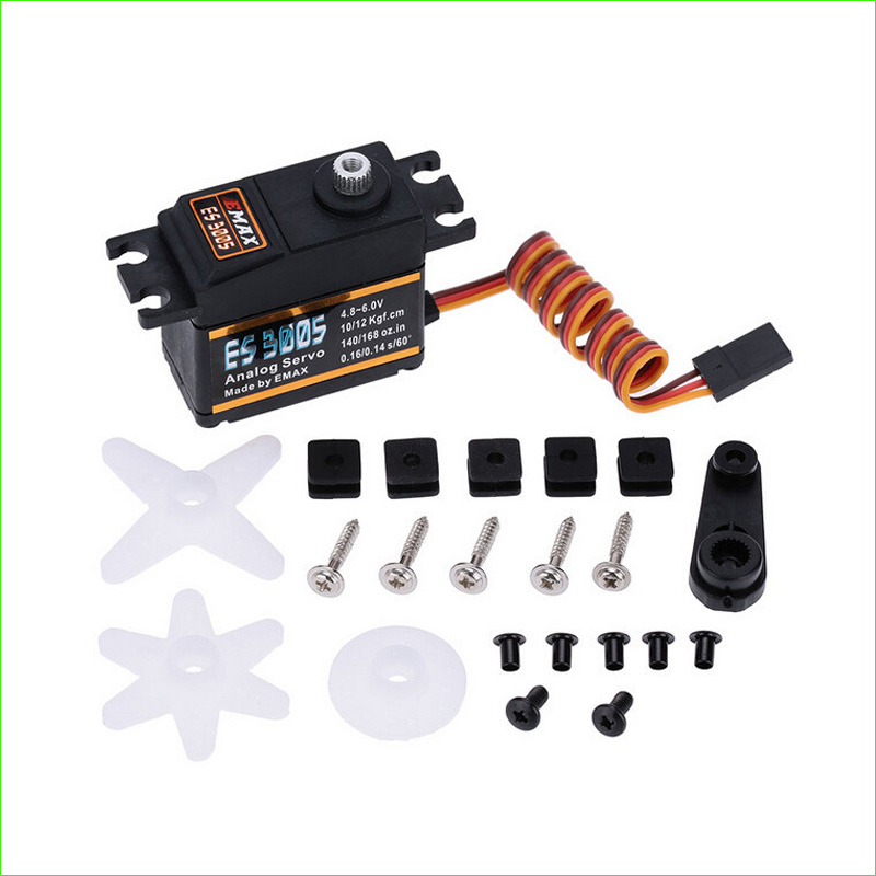 EMAX ES3005 Analog Metal Waterproof Servo with Gears 43g servo 13KG torque for RC car boat airplane