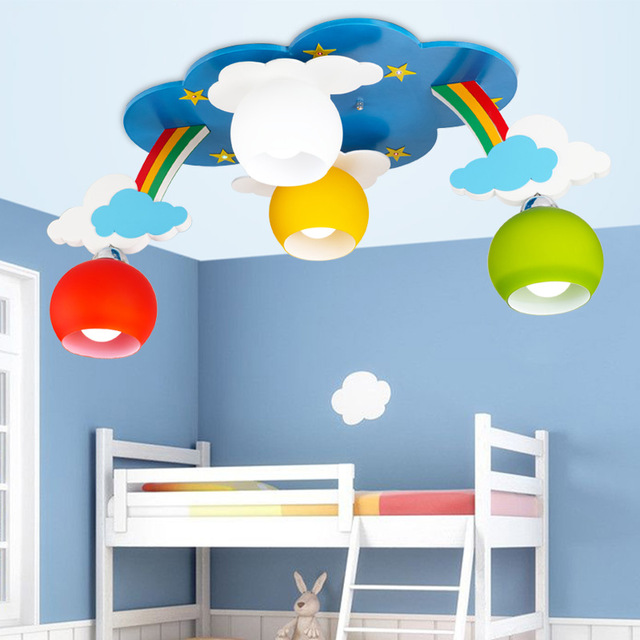 Us 159 21 13 Off Kids Bedroom Cartoon Surface Mounted Ceiling Lights Modern Children Lamps E27 Lighting In From