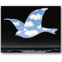 Hot Selling Frameless Picture On Wall Painting Blank Wall Bird Shape By Master Rene Magritte Abstract