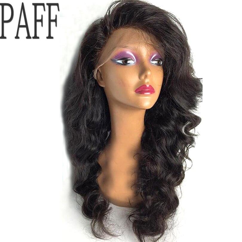 Paff Glueless Человеческие волосы Синтетические волосы на кружеве Искусственные парики перуанский Девы волос боковая часть Средства ухода за ко...