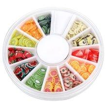 JEYL Hot New 240 Fruit Slice Nail Art Tips UV Gel Decoration + Wheel