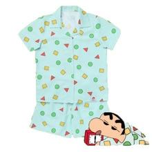 New 2019 Pajama Sets Women Print Geometric Cute 3 Pieces Set Short Sleeve Top + Shorts Elastic Waist + Blinder Loose S83201