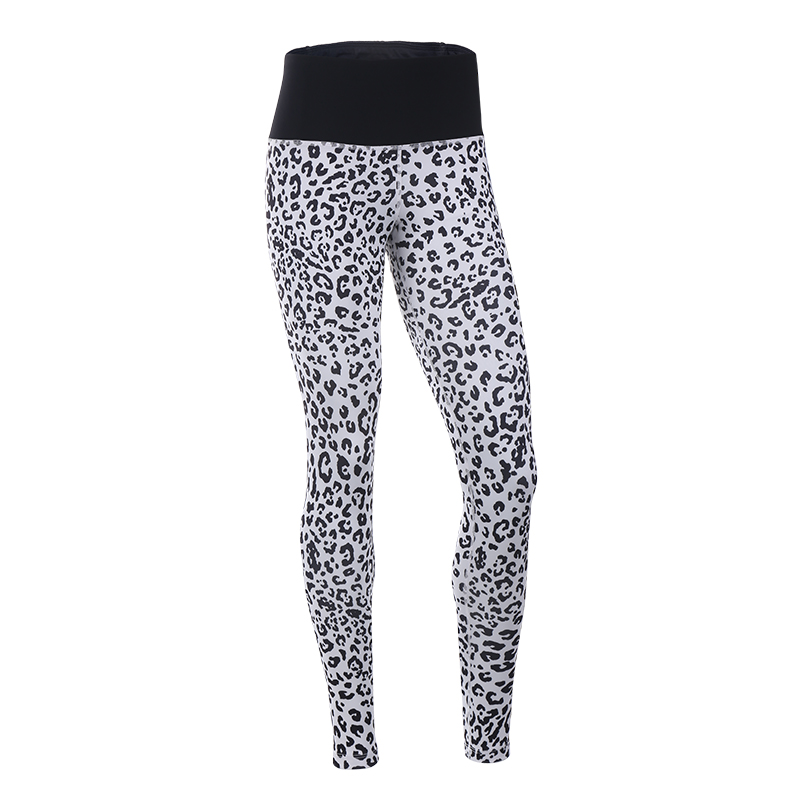 Black Leopard Printed Leggings Womens Seamless Workout Running Yoga Pants