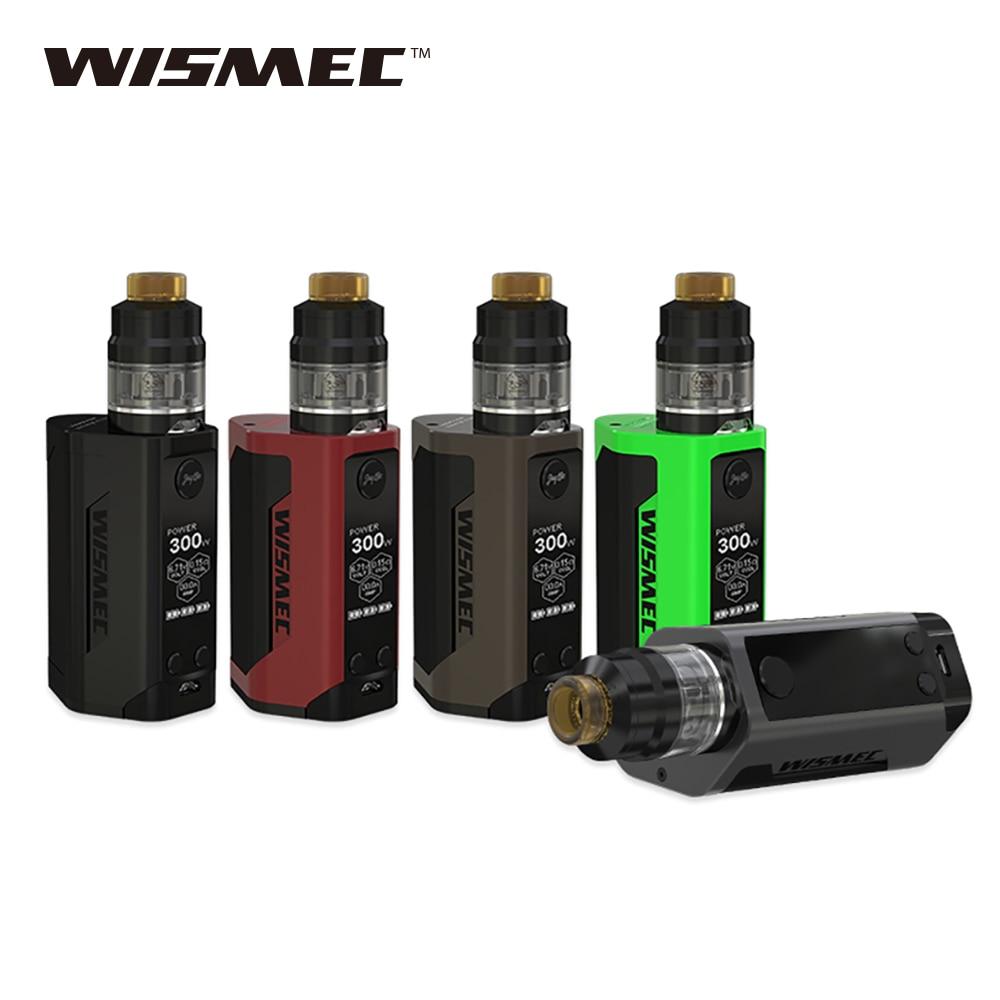 Kit d'origine WISMEC Reuleaux RX GEN3 e-cig 300 W atomiseur de réservoir Gnome de sortie 2 ml avec bobines WM Kit wismec rx gen3 sans batterie 18650